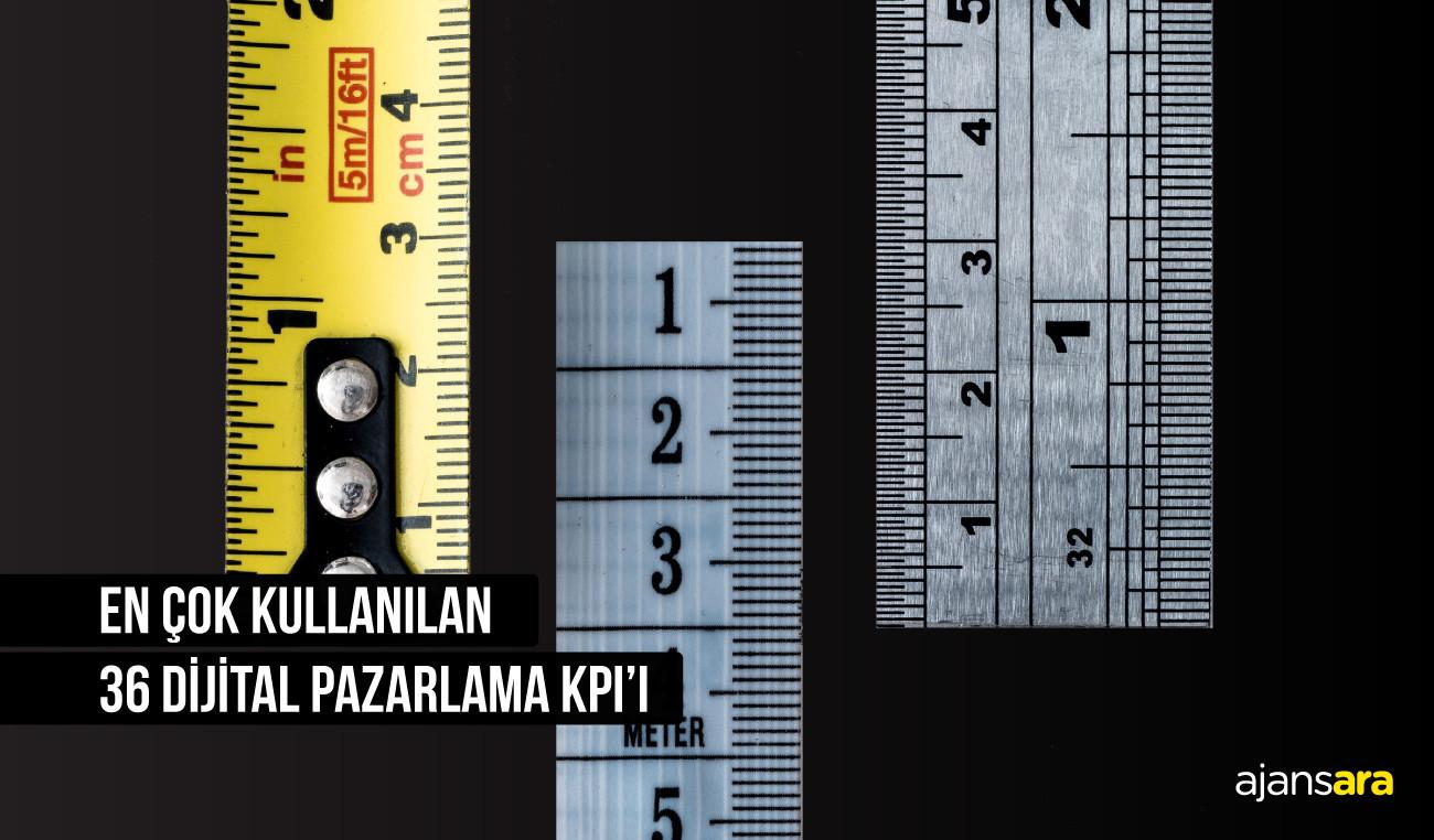 En Çok Kullanılan 36 Dijital Pazarlama KPI'ı En çok kullanılan 36 dijital pazarlama kpiı ajansara Ajansara