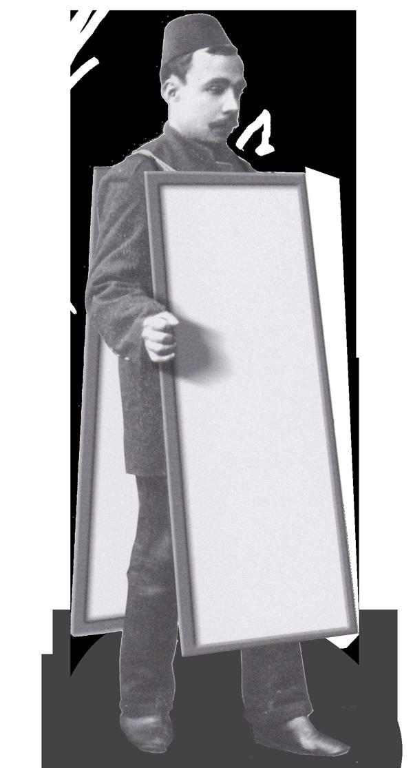 ilancılık tarihi French sandvich adam billboard adam kalite adam